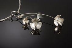Marie Krazizky Silver Flower Drop Necklace