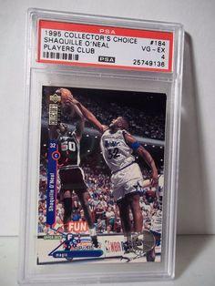 1995 Collector's Choice Shaquille O'Neal PSA VG-EX 4 Basketball Card #184 NBA…