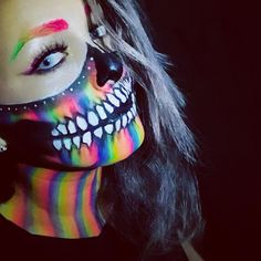 #skull #bodypaint #facepaint #facepainting #skullrainbow @bodypainterkeniexita #instagram Woman Painting, Body Painting, Halloween Skull Makeup, Nyx Cosmetics, Face Art, Face And Body, Body Art, Piercings, Make Up
