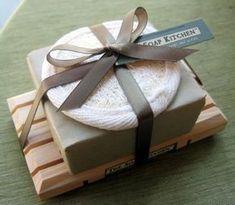 Soap w/ Wooden Dish & Mini Loofah More