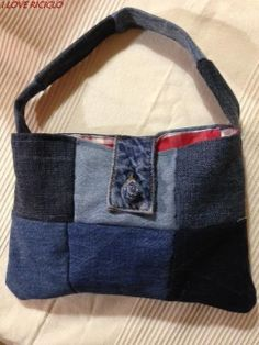 Borsa in jeans levi s riciclato levis and jeans for Borsa jeans tutorial