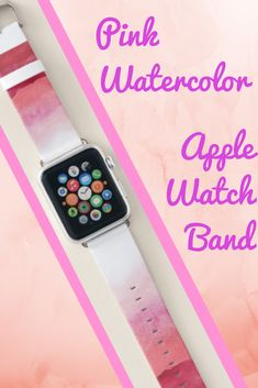 Shop Pink Watercolor Ombre Apple Watch Band created by SparkleandGlitter. Apple Watch 2 Tips, Pink Apple Watch Band, Best Apple Watch, Apple Watch Iphone, Apple Watch Series 1, Pink Watch, Apple Fitness, Best Mothers Day Gifts, Pink Watercolor