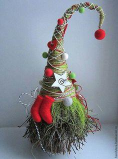 New Year 2016 handmade. Boots, New Year souvenir, green Christmas Gnome, Christmas Makes, Winter Christmas, All Things Christmas, Christmas Ornaments, Christmas Wreaths, Theme Noel, Scandinavian Christmas, Xmas Decorations