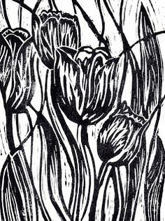 Artist:Tiffany budd the cuts on her work are very thick, she got good use of positive and negative space in her work. Lino Art, Woodcut Art, Linocut Prints, Art Prints, Linoprint, Woodblock Print, Artist At Work, Printmaking, Screen Printing
