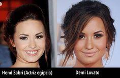 Parecidos razonables: Demi Lovato y Hend Sabri (actriz egipcia).