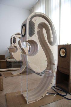 Back Loaded Horn Speakers Home Audio Speakers, Horn Speakers, Audiophile Speakers, Diy Speakers, Sound Speaker, Hifi Audio, Wireless Speakers, Subwoofer Box Design, Speaker Box Design