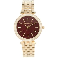 Michael Kors Mini Darci Watch ($250) ❤ liked on Polyvore featuring jewelry, watches, snap button jewelry, snap jewelry, michael kors, water resistant watches and michael kors jewelry