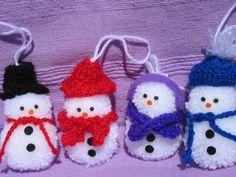 Pompom snowman decoration, snowman decoration, snowman ornament, cute snowman, snowman family, modern snowman, Christmas decoration, by TheCraftingGardener on Etsy Snowman Decorations, Snowman Ornaments, Christmas Decorations, Christmas Ornaments, Holiday Decor, Cute Snowman, Colorful Decor, Shops, Community