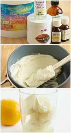 Beauty DIY ~ Dreamy Homemade Lemon Cream Body Butter Recipe!!