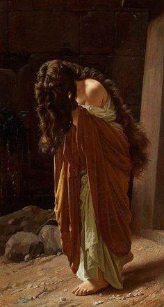 Magdalena ~ Antonio Ciseri ~ (Italian: 1821-1891)