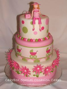 Pink & Green Baby Shower by cakeboxsoc, via Flickr