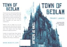 Town of Bedlam - Illustrated Book Cover For Sale