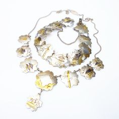 Sterling Japan Necklace Bracelet Gold Plated by zephyrvintage