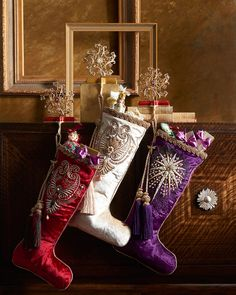 Shop Pearl Paisley Red Christmas Stocking from Jay Strongwater at Horchow, where you'll find new lower shipping on hundreds of home furnishings and gifts. Unique Christmas Stockings, Xmas Stockings, Christmas Mantels, Christmas Crafts, Christmas Ornaments, Christmas Tables, Purple Christmas, All Things Christmas, Coastal Christmas
