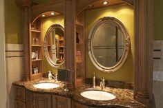 Elegant bathroom vanity.