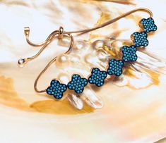 Turkish Handmade Sterling Silver Alhambra Turquoise Bracelet  | eBay