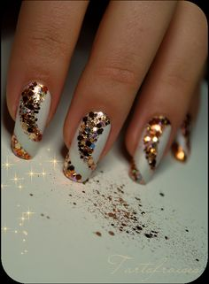 Nail Art sparkles perfect for New Years