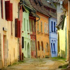 Romanian town(?) street scene (by S.C.)