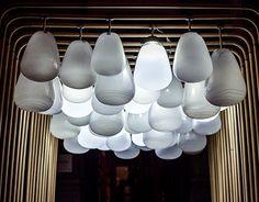 Glasswood installation on Behance Chandelier, Ceiling Lights, Lighting, Architecture, Behance, Anna, Design, Home Decor, Check