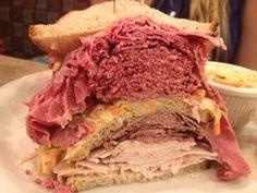Cindi's deli meat stack sandwich.
