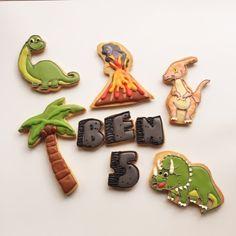 #Dinosaurs for Ben's 5th birthday #decoratedcookies