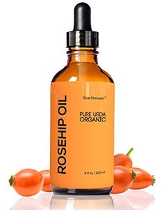 4oz Organic Rosehip Oil - BIG 4 OUNCE! - 100% Pure & Certified Organic Cold Pressed - SEE RESULTS OR YOUR MONEY-BACK - Heals Dry Skin, Fine Lines, Acne Scars, Eczema, Psoriasis, Sun Damage & More!  //Price: $ & FREE Shipping //     #hair #curles #style #haircare #shampoo #makeup #elixir