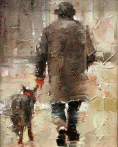 Andre Kohn The Loyal Friend Original Oil Painting