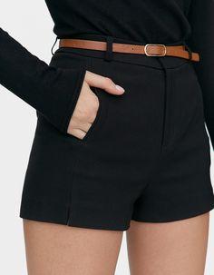 Pantaloni scurți eleganți - Pantaloni | Stradivarius Romania Short Dresses, Fashion Jewelry, Shorts, Nails, Spring, How To Make, Outfits, Women, Style