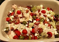 Easy Greek Chicken Bake- Low carb & Paleo
