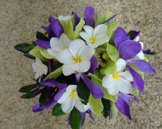 Plumeria and Orchids bridal bouquet