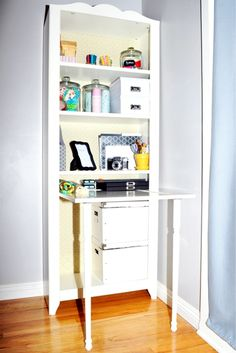 Cool Adding desk element to book case