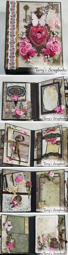 Terry's Scrapbooks: Sharing my Blue Fern Timeless Mini Album Reneabouquets DT project for Febuary.