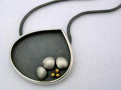 Janice Ho, Succulent Necklace, sterling, 24k