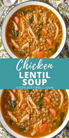 Chicken Thighs Soup, Chicken Thigh Recipes, Chicken Soup Recipes, Recipe Chicken, Crockpot Recipes, Cooking Recipes, Healthy Recipes, Recipes With Shredded Chicken, Cuban Recipes