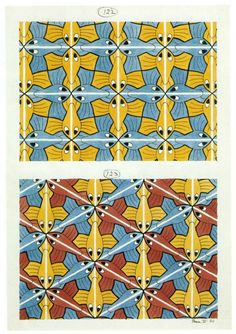 M.C. Escher tessellation
