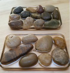 Perfect partner of my handmade soaps, these SOAP dishes of river pebbles allow ventilation of SOAP to promote drying and prolong life. Each SOAP