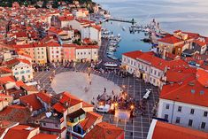 Tartini Square in Piran, one of three notable cities along Slovenian Istria ... Piran, Slovenia
