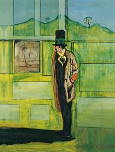 """ Peter Doig (British, b. 1959), Metropolitain (House of Pictures), 2004. Oil on canvas, 275 x 200 cm. """