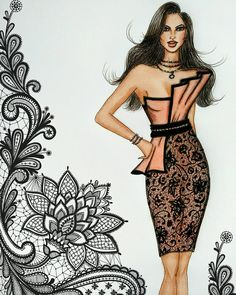 Fashion Design Drawing Boa semana a todos! Fashion Figure Drawing, Fashion Drawing Dresses, Fashion Illustration Dresses, Dress Illustration, Fashion Illustrations, Fashion Dresses, Fashion Illustration Template, Dress Design Sketches, Fashion Design Sketchbook