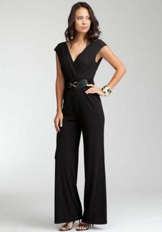 black jumpsuit | ... at 630 × 900 in The Sleek Black Jumpsuit Collection Fall 2012 by Bebe