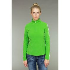 Bogner Kapia Womens Microfleece Top in Green