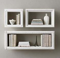 Hand-Carved Display Shelf at Restoration Hardware