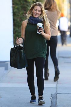 Hilary Duff.. i completely adore this outfit.. it's simple, comfortable & so cute