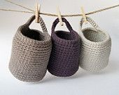 Crocheted Storage - look also great when crocheted with package string and finished off with a last row in a fancy color.