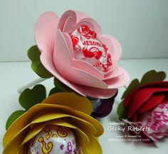 Inking Idaho: Spiral Flower Lollipops