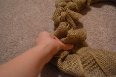 Angela Strand: My Super Easy Burlap Wreath