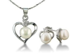 Heart Shaped Freshwater Pearl Pendant and Earrings Set,  http://www.amazon.com/dp/B004MRAXY0/ref=cm_sw_r_pi_awd_1jqosb1WTFA4S