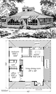 This plan includes my changes. Original linked at the link. My description and the changes I've made are detailed at the link as well. Small House Floor Plans, Cabin House Plans, Tiny House Cabin, Tiny House Design, Cabin Homes, Log Homes, Tiny Homes, Earth Bag Homes, Recycled House