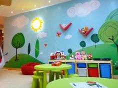 Interior Decoration for Children's Playroom | home trend design | gardening kreatifhome.com | Home Trend Design And Gardening