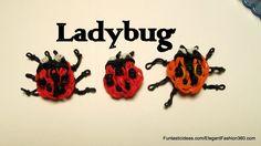 Rainbow Loom ladybug emoji/Emoticon charm - How to tutorial by Elegant Fashion 360.
